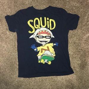 Nickelodeon squid cartoon shirt